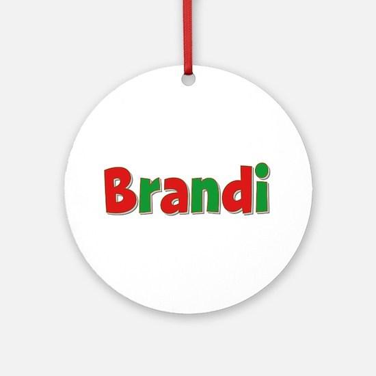 Brandi Christmas Round Ornament