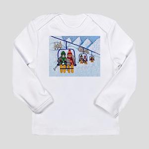 Cats Riding Ski Lift Long Sleeve Infant T-Shirt