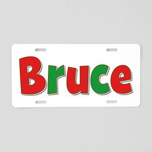 Bruce Christmas Aluminum License Plate