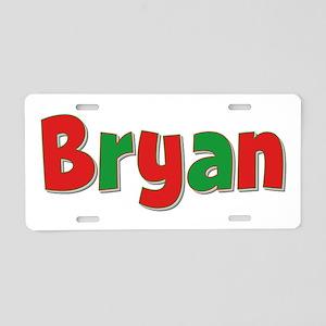 Bryan Christmas Aluminum License Plate