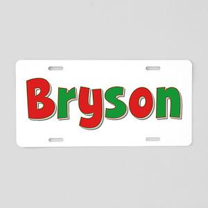 Bryson Christmas Aluminum License Plate