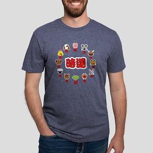 zodiac_clock3a Mens Tri-blend T-Shirt