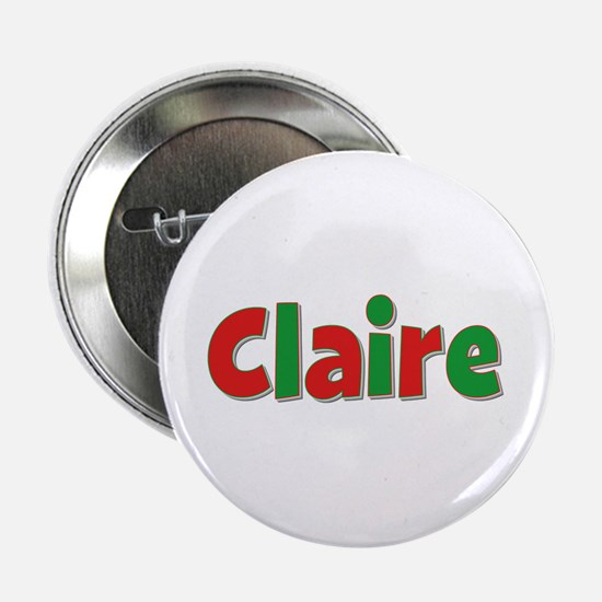 Claire Christmas Button