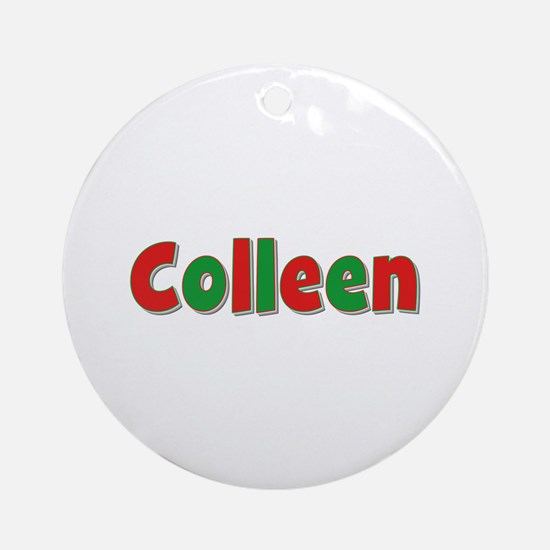 Colleen Christmas Round Ornament