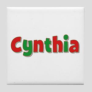 Cynthia Christmas Tile Coaster