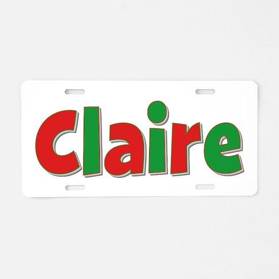 Claire Christmas Aluminum License Plate