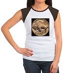 Nickel Buffalo-Indian Women's Cap Sleeve T-Shirt