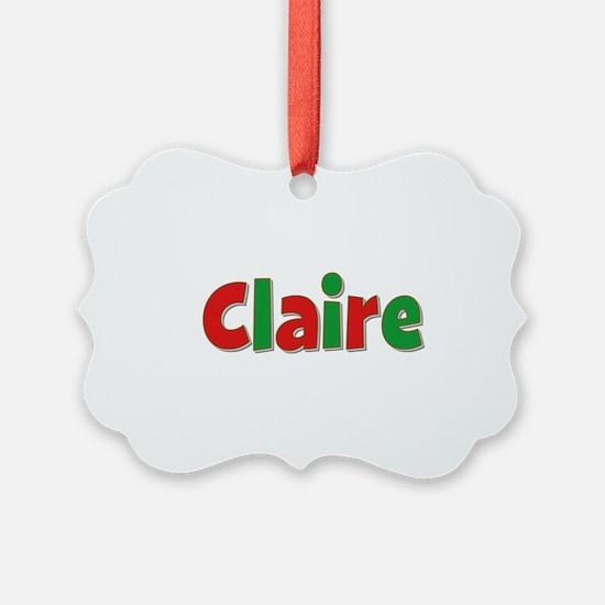 Claire Christmas Ornament