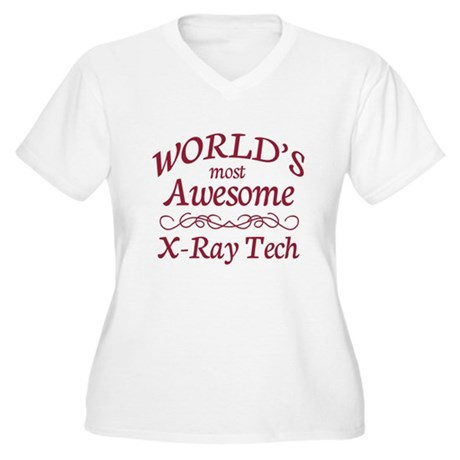Awesome X-Ray Tech Women's Plus Size V-Neck T-Shir