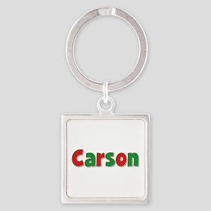 Carson Christmas Square Keychain