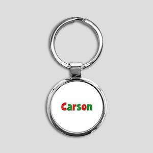 Carson Christmas Round Keychain