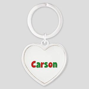 Carson Christmas Heart Keychain
