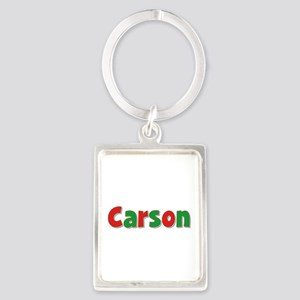 Carson Christmas Portrait Keychain