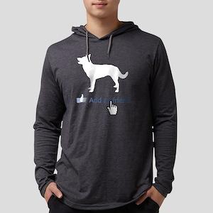 Australian-Kelpie14 Mens Hooded Shirt