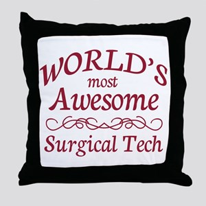 Awesome Surgical Tech Throw Pillow