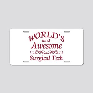 Awesome Surgical Tech Aluminum License Plate
