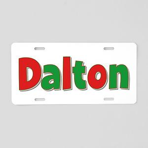 Dalton Christmas Aluminum License Plate