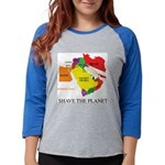 save the PLANET.png Womens Baseball Tee