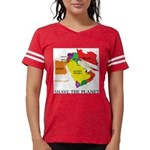 save the PLANET.png Womens Football Shirt
