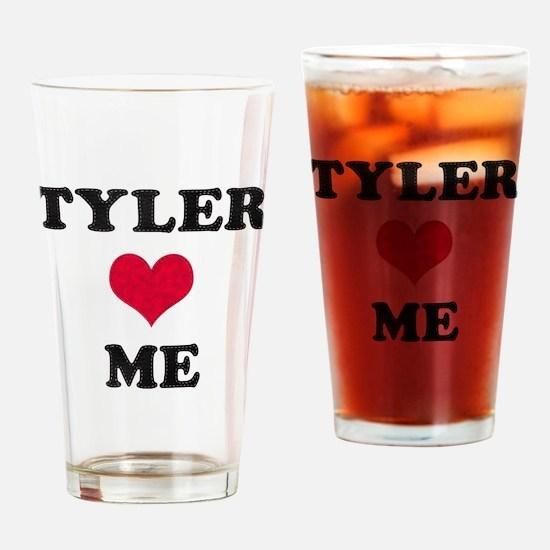 Tyler Loves Me Drinking Glass