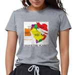save the PLANET Womens Tri-blend T-Shirt
