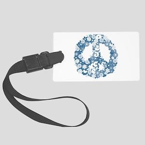 Retro peace symbol Large Luggage Tag