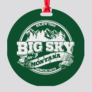 Big Sky Old Circle Round Ornament