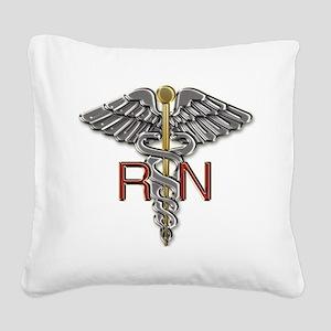 RN Medical Symbol Square Canvas Pillow