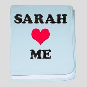 Sarah Loves Me baby blanket