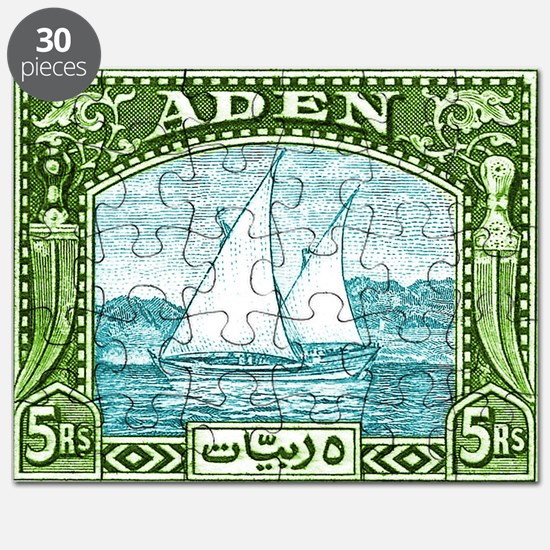 1937 Aden Dhow Boat Postage Stamp Puzzle