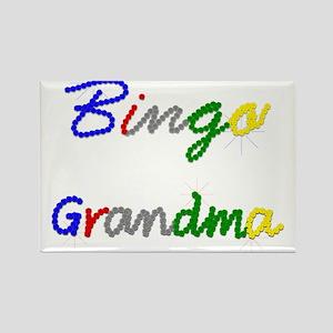 Bingo Grandma Rectangle Magnet