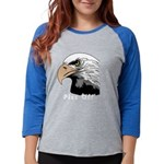 piss off black eagle copy Womens Baseball Tee