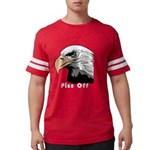 piss off black eagle copy.png Mens Football Shirt