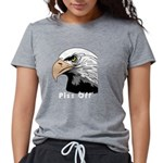 piss off black eagle copy Womens Tri-blend T-Shirt