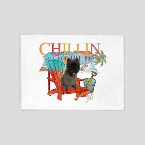 Cairn Terrier Chillin' 5'x7'Area Rug