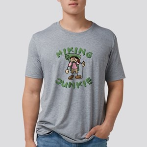 Hiking Junkie - Girl Mens Tri-blend T-Shirt