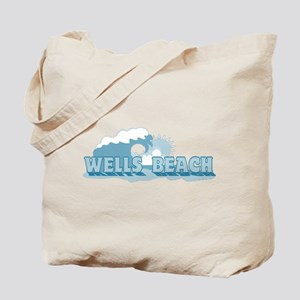 Wells Beach MA - Beach Design. Tote Bag