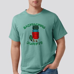 Backpacking Junkie Mens Comfort Colors Shirt