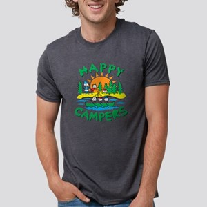 Happy Campers Mens Tri-blend T-Shirt