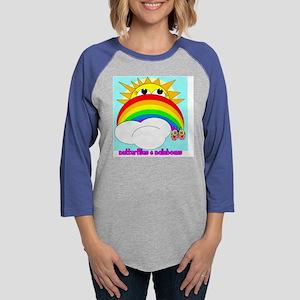 butterflies and rainbow1 Womens Baseball Tee