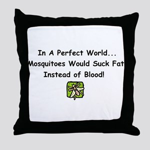 mosquitoes Throw Pillow