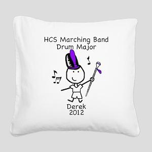 Drum Major - Derek Square Canvas Pillow