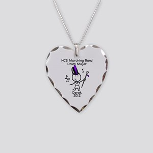 Drum Major - Derek Necklace Heart Charm
