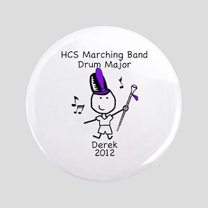 """Drum Major - Derek 3.5"""" Button"""
