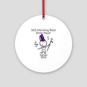 Drum Major - Derek Ornament (Round)