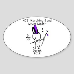 Drum Major - Derek Sticker (Oval)