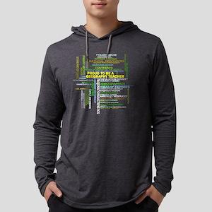 Proud Geography Teacher Mens Hooded Shirt