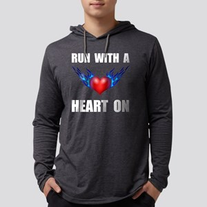 Run Heart On Mens Hooded Shirt