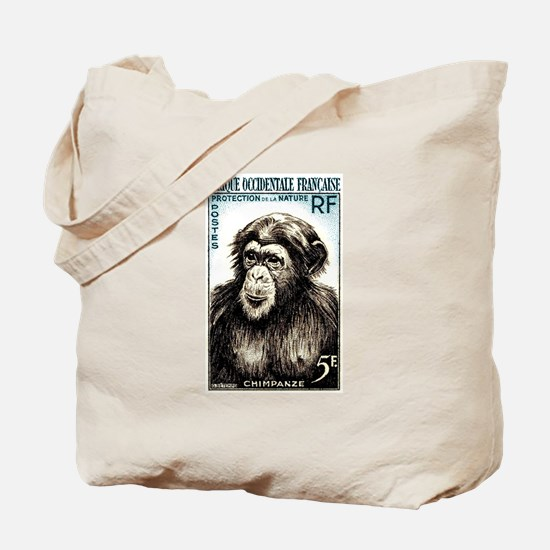 1955 French West Africa Chimp Postage Stamp Tote B