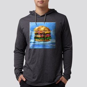 Cheeseburger in the Tropics Mens Hooded Shirt